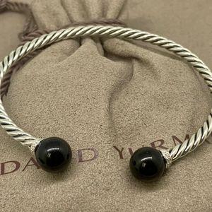 David Yurman Solari Bracelet Black Onyx Diamonds